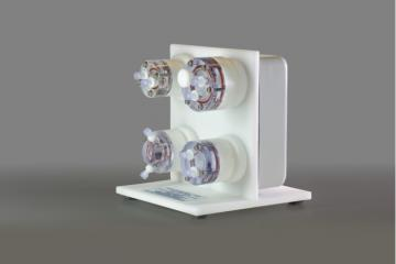 Rotator base with 2mL, 10mL, 1mL and 4mL autoclavable HARVs